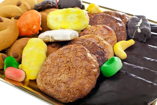 Mischung aus gebäck und keksen