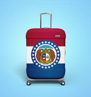 Missouri-flaggen-koffer - ferien