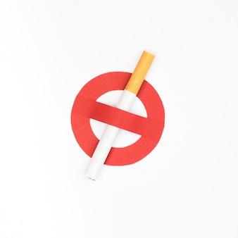 Mit dem konzept der schlechten gewohnheit mit dem rauchen aufhören