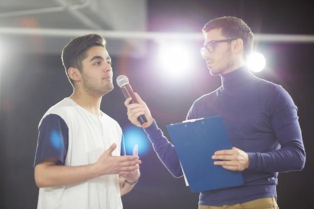 Mit dem publikum kommunizieren