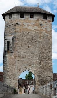 Mittelalterliche brücke über den fluss gave de pau in orthez stadt frankreich