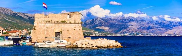 Mittelalterliche burgen von kroatien kastela kastel stafilic nehaj tower über meer dalmatien