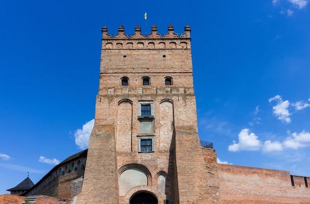 Mittelalterliches schloss lutsk, historisches wahrzeichen der ukraine.