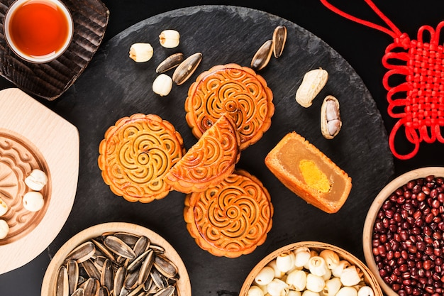 Mittlerer autumn festival chinese traditional pastry mooncake