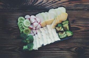 Mix aus verschiedenen Gemüse und Käse