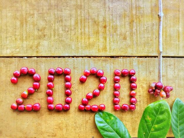 Mixed coffees robusta und arabica, neujahr kalender 2020 konzept
