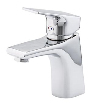 Mixer kaltes heißes wasser. modernes badezimmer mit wasserhahn. küchen-wasserhahn