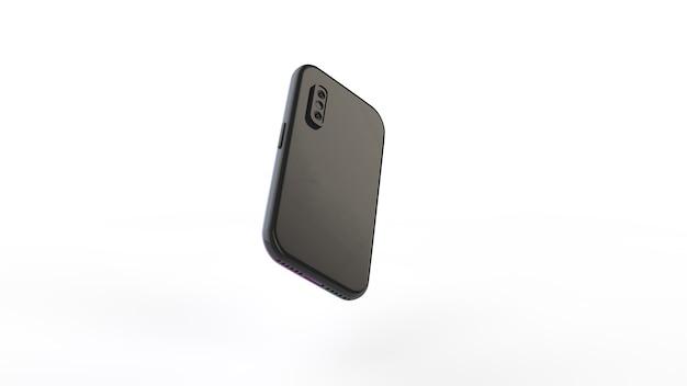 Mobile fotografie. 3d-illustration. smartphone-kamera isoliert auf einem weißen