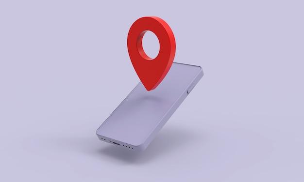 Mobile gps-navigation auf dem handy mit pin