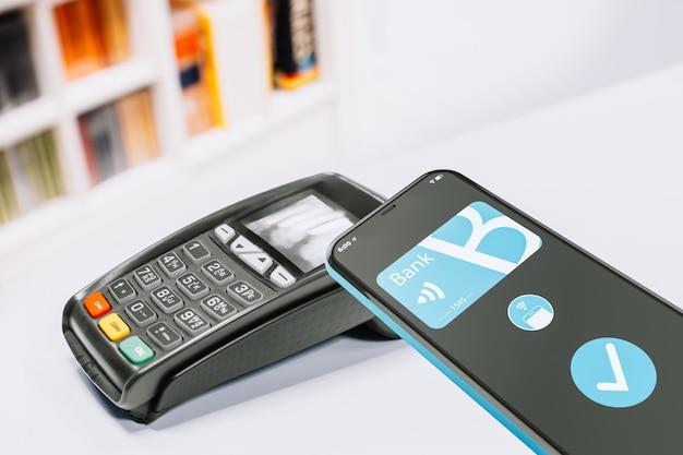 Mobiles bezahlen über ein dataphon