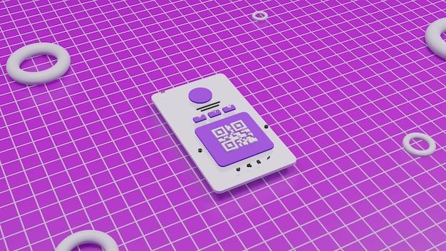 Mobiles design der 3d-illustrationsbenutzeroberfläche