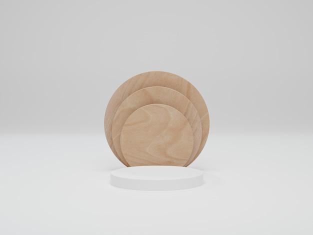 Mock-up für show-kosmetikprodukt-display, podium, bühnenpodest. abstrakte minimale szene mit geometrischen formen. 3d-rendering