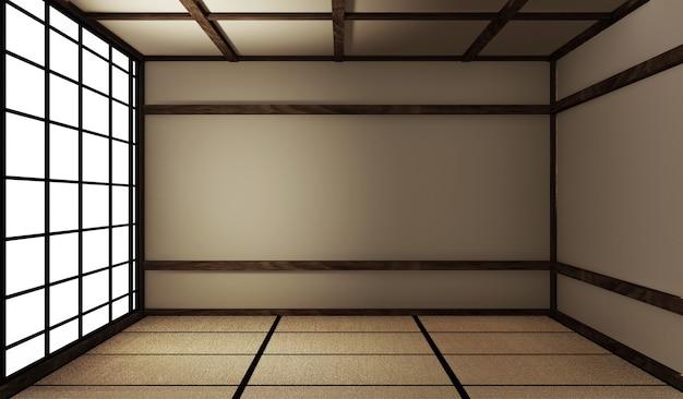 Mock-up-interieur-zen-stil. 3d-rendering