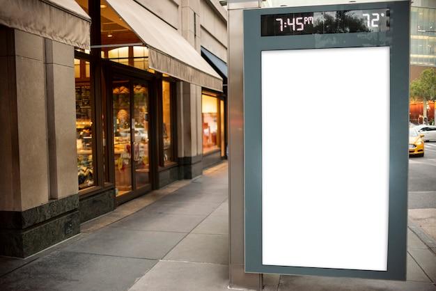 Mock-up plakat in der bushaltestelle