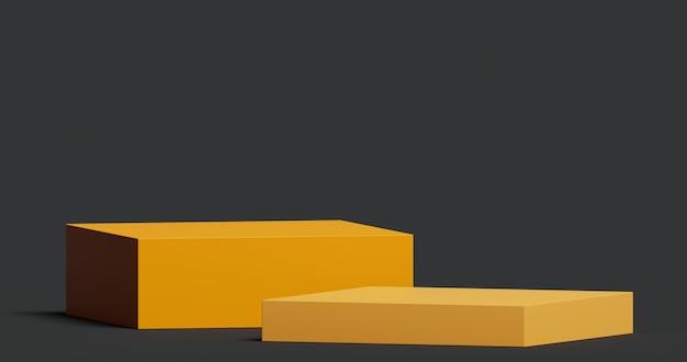 Mock-up-podium für die produktpräsentation abstraktes minimales konzept