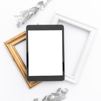 Mock-up tablet auf frames
