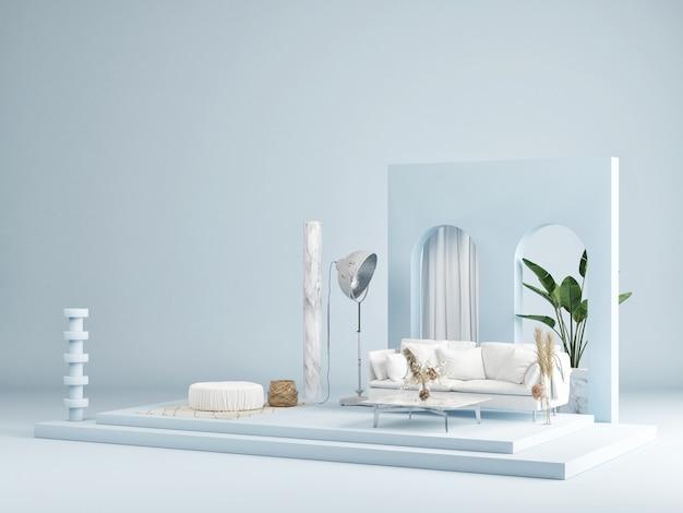 Mockup abstrakte studiomode