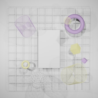 Mockup blank, posterrahmen, fotorahmen 3d-rendering