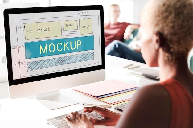 Mockup-objekt imitieren modellreplik-design-reproduktionskonzept
