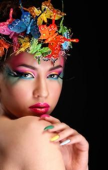 Mode brünette model portrait