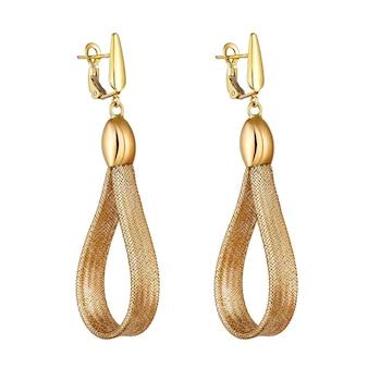 Mode damenohrringe in gold. geschenk für damenschmuck
