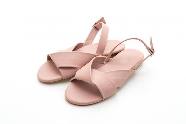 Mode frauen und frauen leder sandalen mit slingback