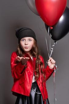 Mode mädchen ballons