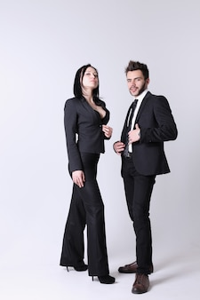 Mode mann und frau. das konzept für ein geschäft mit herren- und damenbekleidung