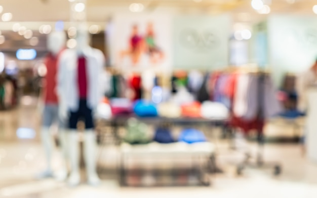 Mode-shopping-zusammenfassung unscharfes foto des modespeichers