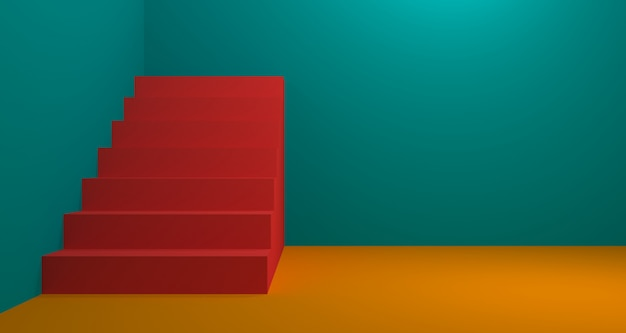 Modeartikelanzeige mit korallenfarbe. hintergrund-3d-rendering.