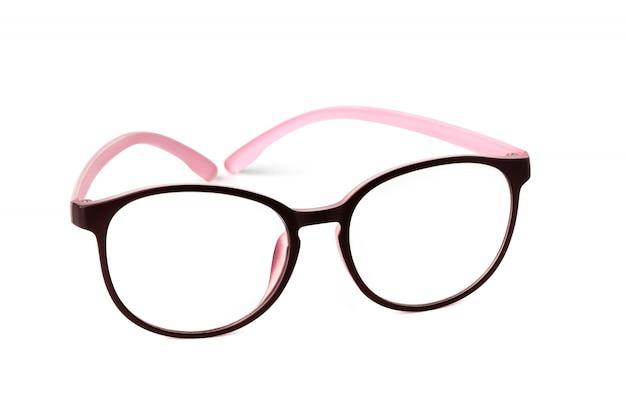 Modebrille isoliert auf weißer oberfläche