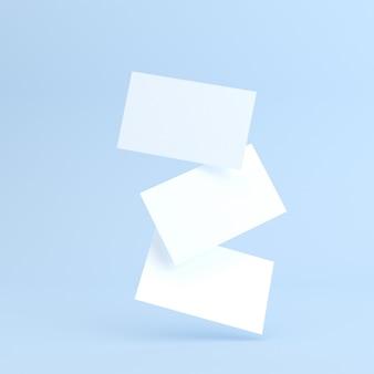 Modell der leeren visitenkarte