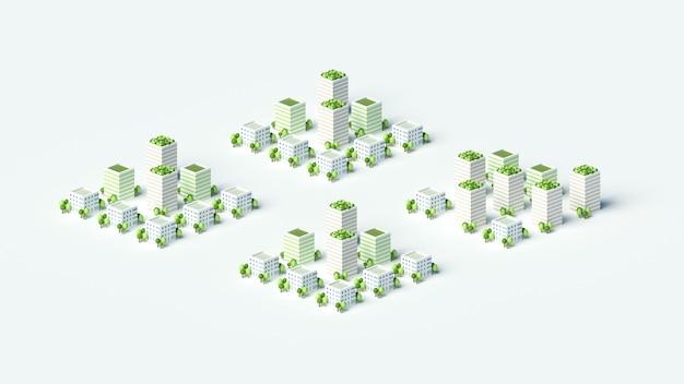 Modell der stadt mit wohngebäuden.