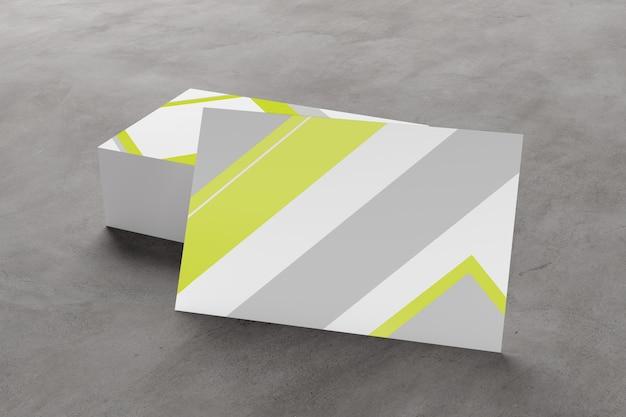 Modell der visitenkarte auf einem konkreten hintergrund ing