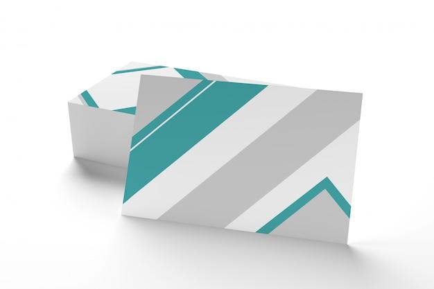 Modell der visitenkarte auf einem weißen hintergrund ing