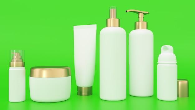 Modell der wiedergabe 3d für kosmetische behälter