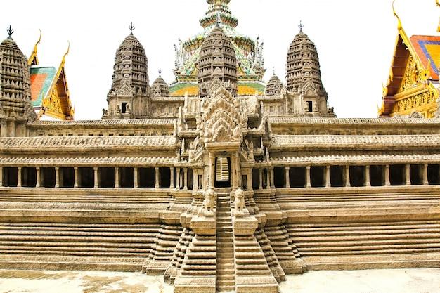 Modell des alten tempels im rand palace in bangkok, thailand
