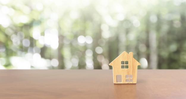 Modell des einfamilienhauses, geschäftshausidee