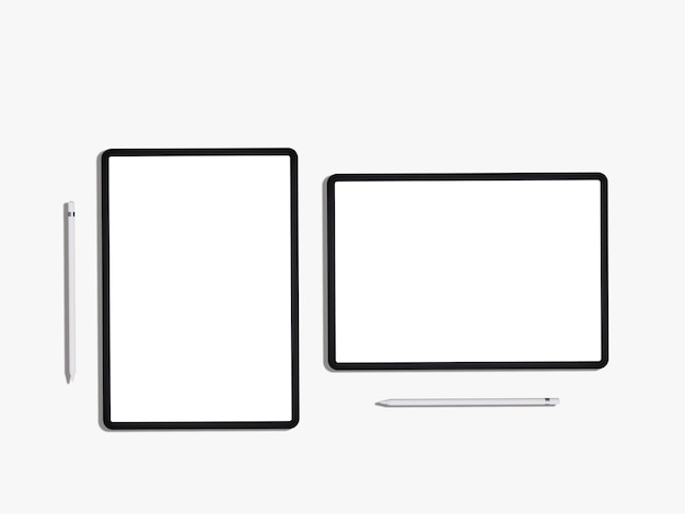 Modell des ipad mit leerem bildschirm