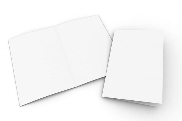 Modell einer halb gefalteten broschüre