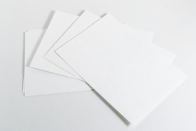 Modell von visitenkarten