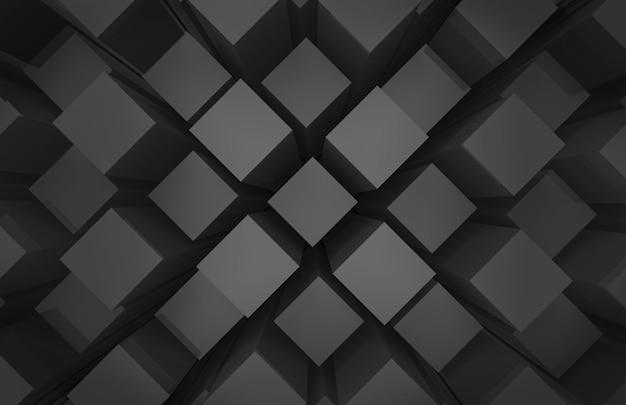 Moderne abstrakte gelegentliche schwarze quadratwürfel-kastenstangen-stapelwand
