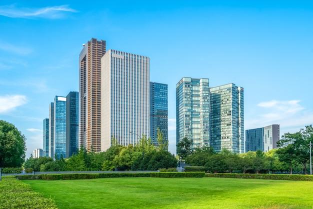 Moderne architektur der städtischen skyline