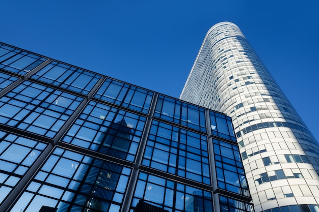 Moderne architektur und gebäude in paris