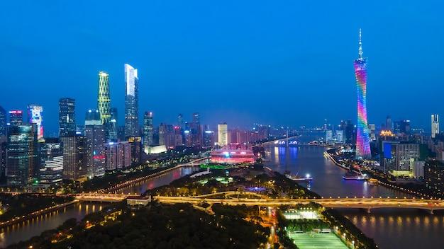 Moderne architekturlandschaft der stadt guangzhou