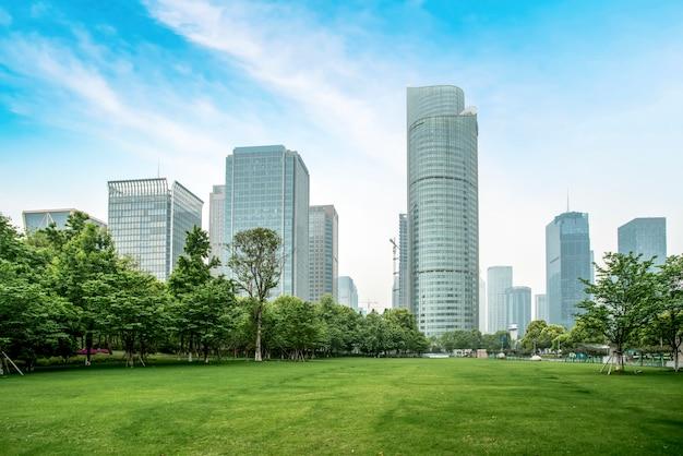Moderne architekturstadt-skyline