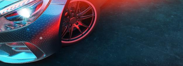 Moderne autos stehen im studio.