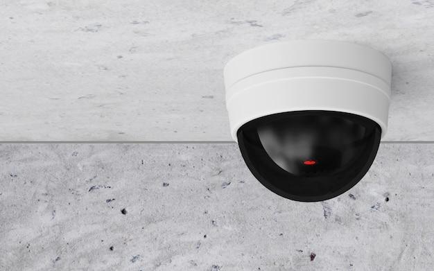 Moderne cctv-überwachungskamera an der decke