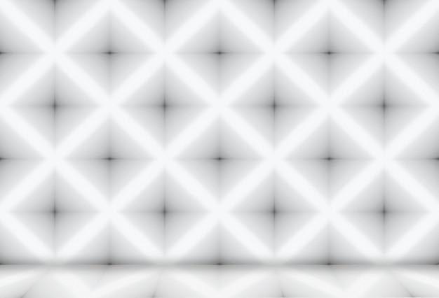 Moderne diagonale quadratische gittermusterwand und bodenhintergrund.