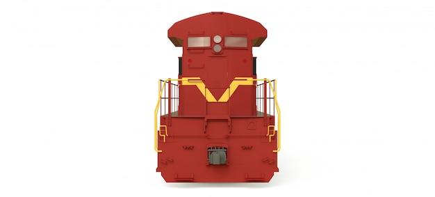 Moderne diesel-eisenbahnlokomotive mit großer kraft und stärke zum bewegen langer und schwerer eisenbahnzüge